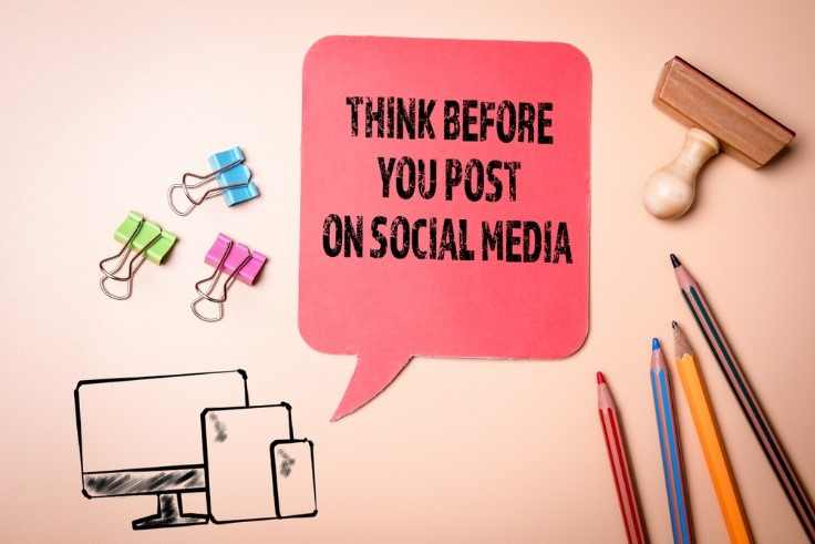 think before you post on social media